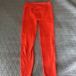 Pants - Orange super stretchy leggings